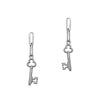 Trinket Key Earrings Silver by Julia Thompson