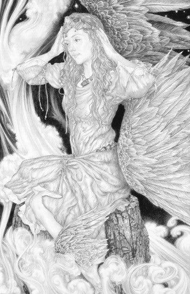 Angel - original pencil drawing by Ed Org