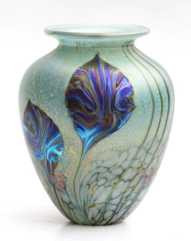 Eden Emerald Amphora Glass Vase by Jonathan Harris