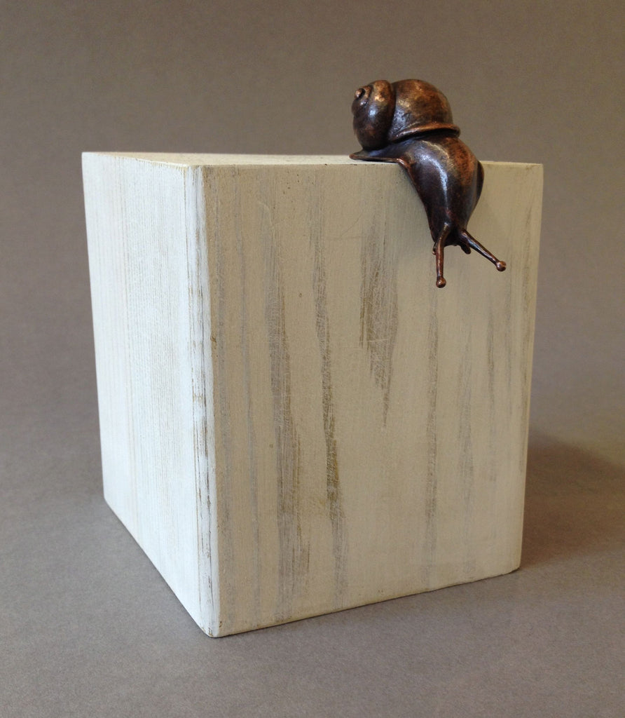 Bronze Snail Over Edge by David Meredith