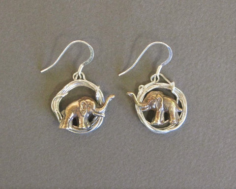 Elephant in Hoop Earrings