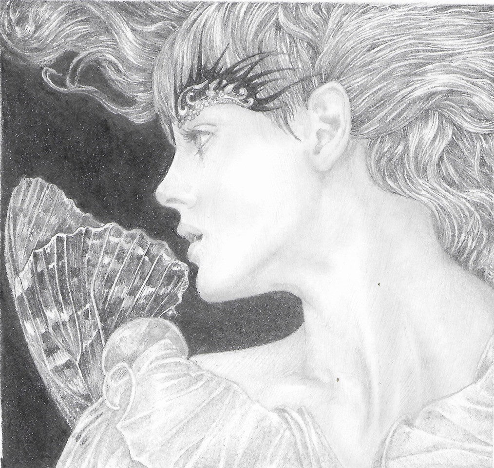 Fae 1 - Original Pencil Drawing by Ed Org
