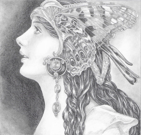 Fae 2 - Original Pencil Drawing