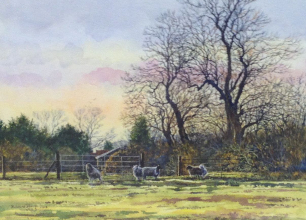 February Evening, Stewkley by Edward Stamp RI