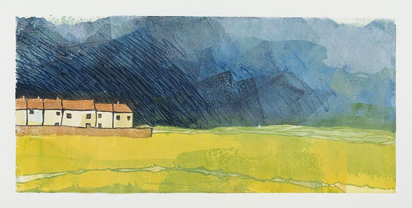 Fen Cottages, Approaching Rain by Laura Boswell