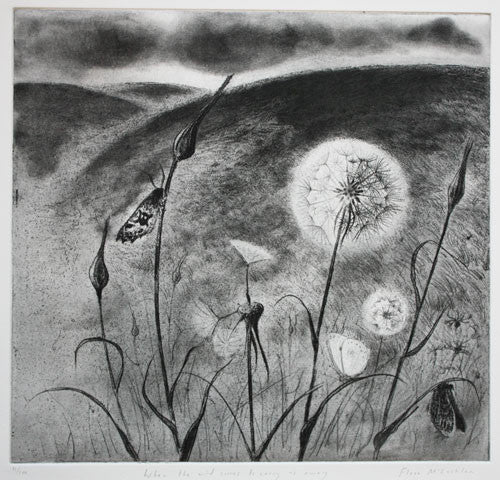 Flora McLachlan When the Wind Comes to Carry Us Away etching