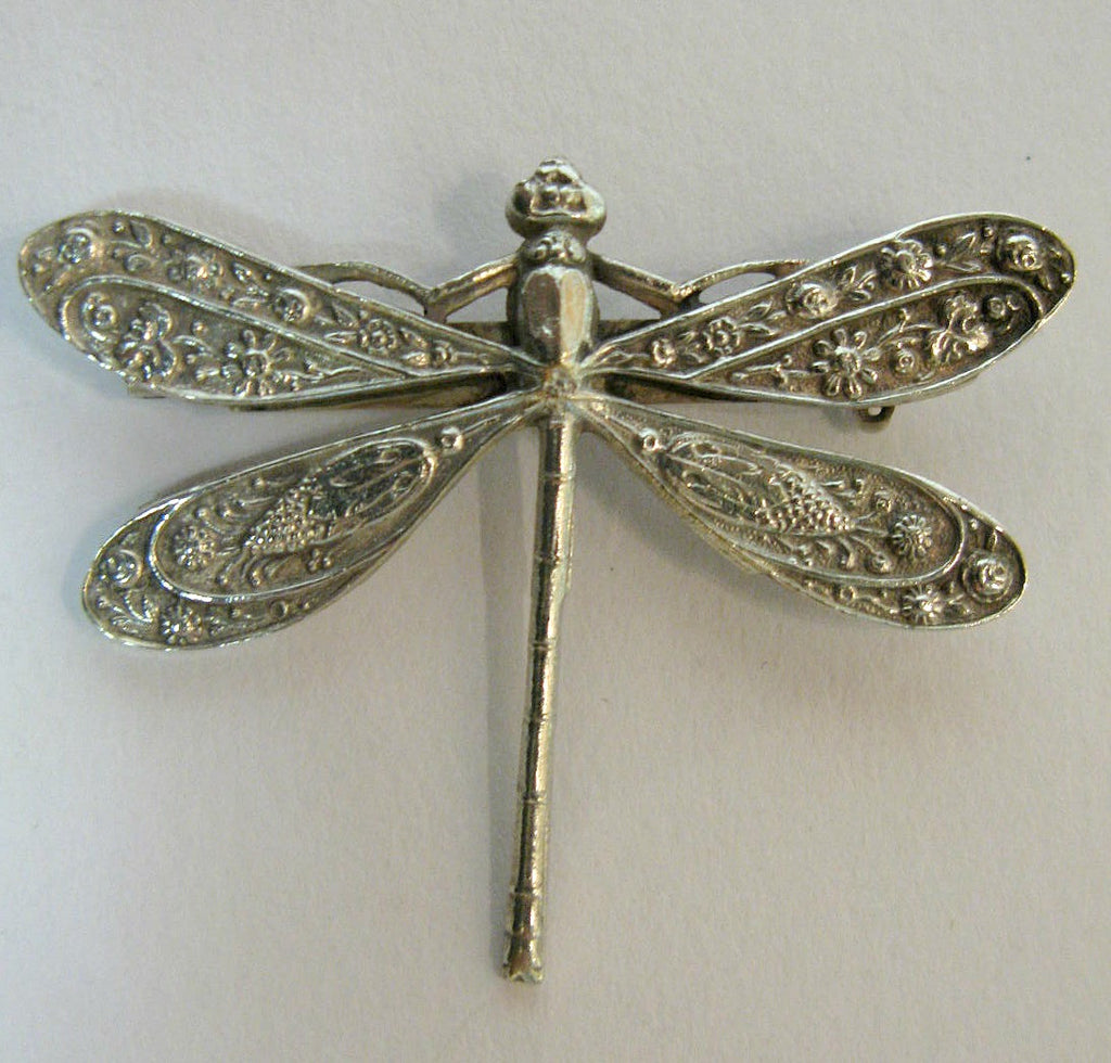 Floral Dragonfly Brooch by Jess Lelong