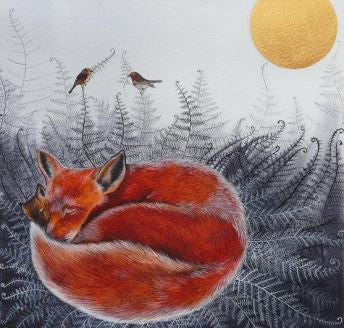 Fox, Cub & Robins by Sam Cannon
