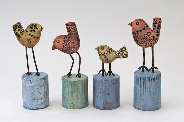 Mini Finches by Frances Noon