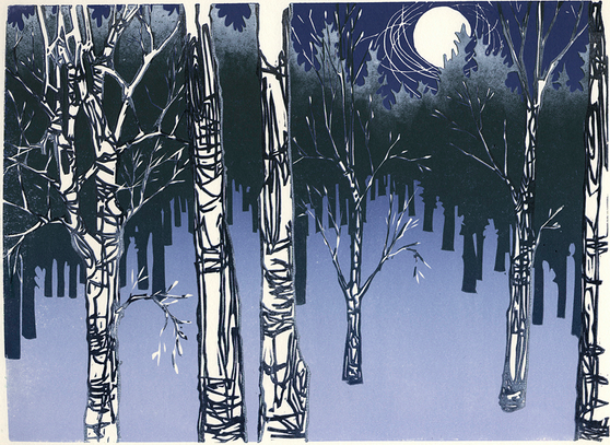 Frost at Full Moon by Laura Boswell