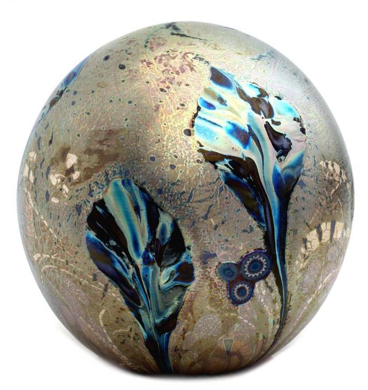 Eden Petrol Glass Paperweight by Jonathan Harris