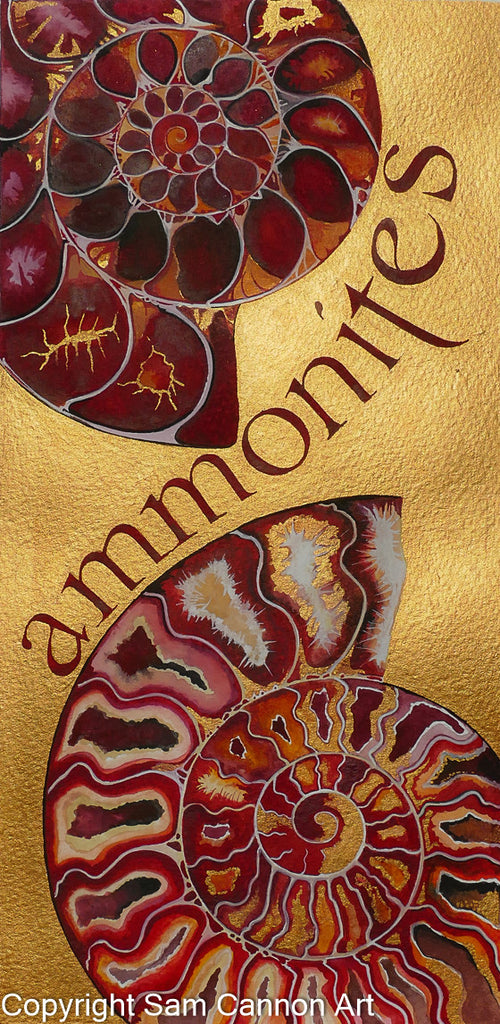 Golden Ammonites - signed Ltd. edition print by Sam Cannon