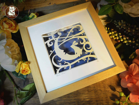 Hello Moon! - Original Paper Cut by Paper Panda.   NOW £395.