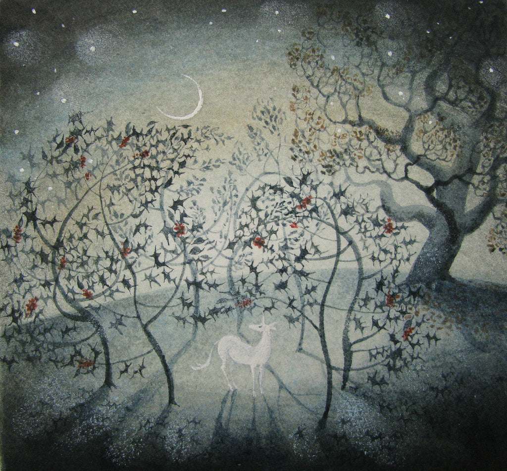 Holly Grove by Flora McLachlan - original watercolour & ink painting