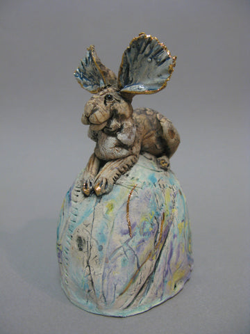 Hare on Hill - Hand-Built Ceramic Sculpture by Gin Durham