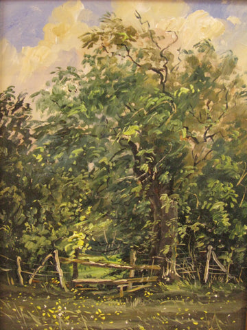 Stile with Ash Tree by Edward Stamp RI