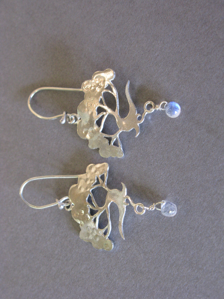 Summer Tree Earrings with Moonstone, Jesa Marshall