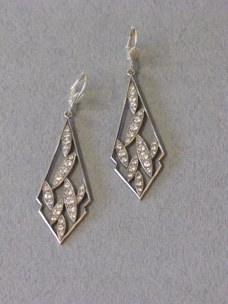 Diamante Earrings - Jess Lelong