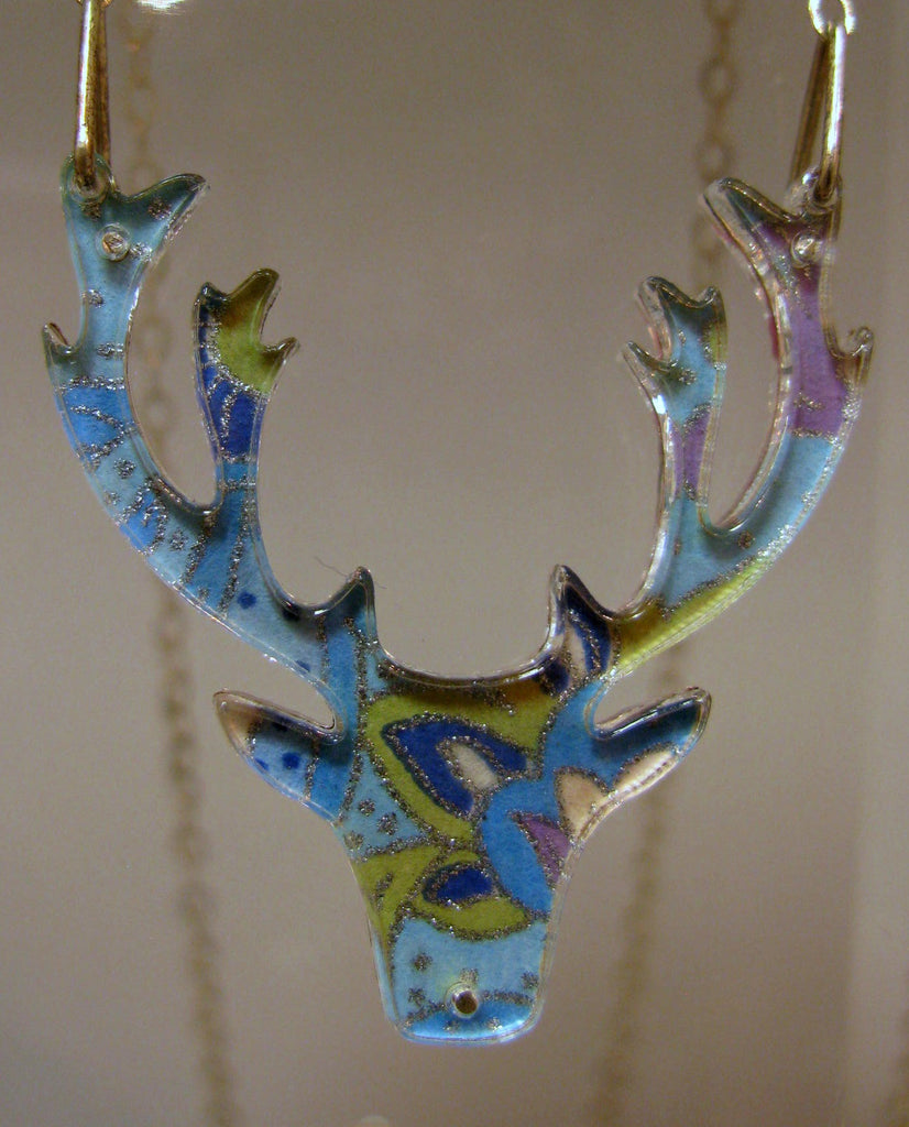 Stag Design Reversible Necklace