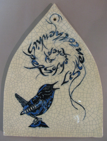 "Arch Bird Tile - ""Listen to the whispers of your heart"" - Mel Chambers"