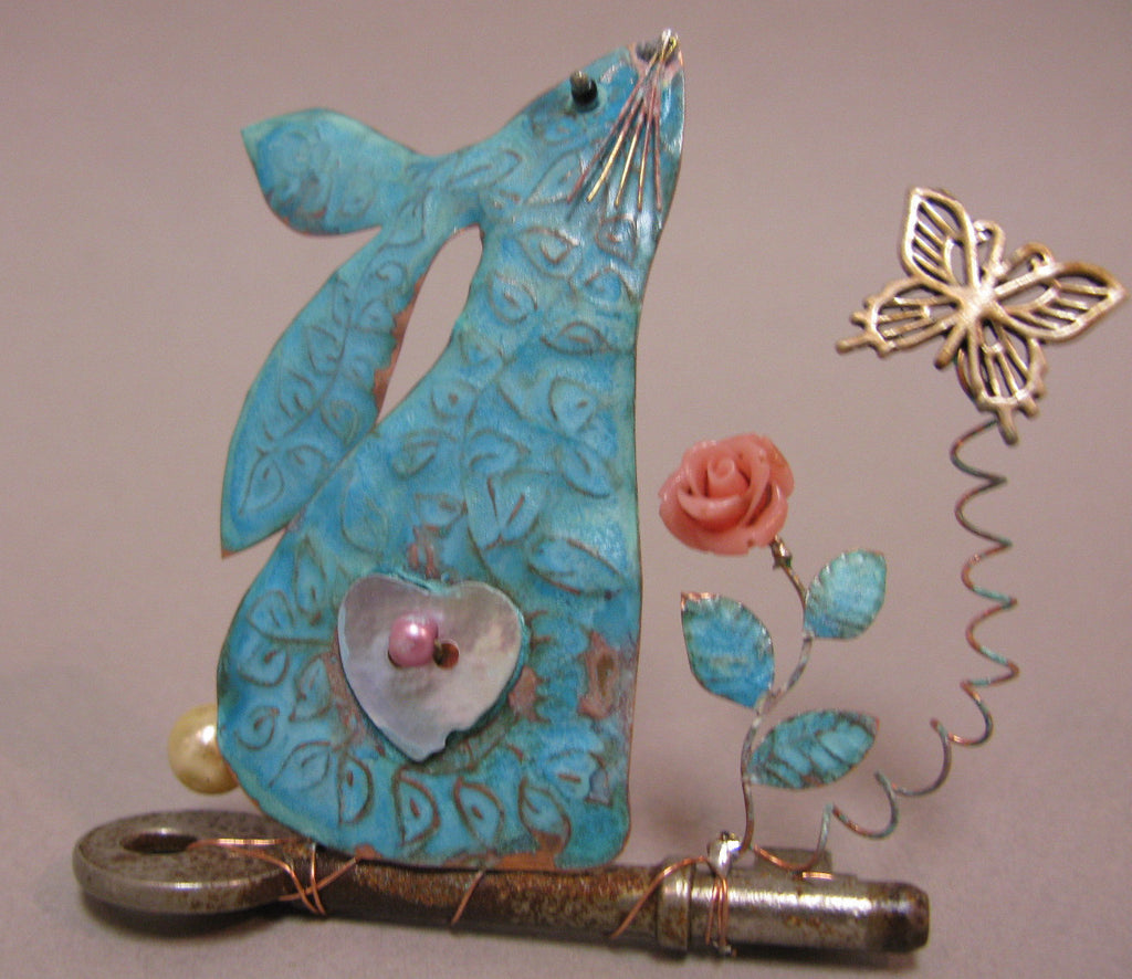 Small Hare Gazing on a Key Assemblage by Linda Lovatt