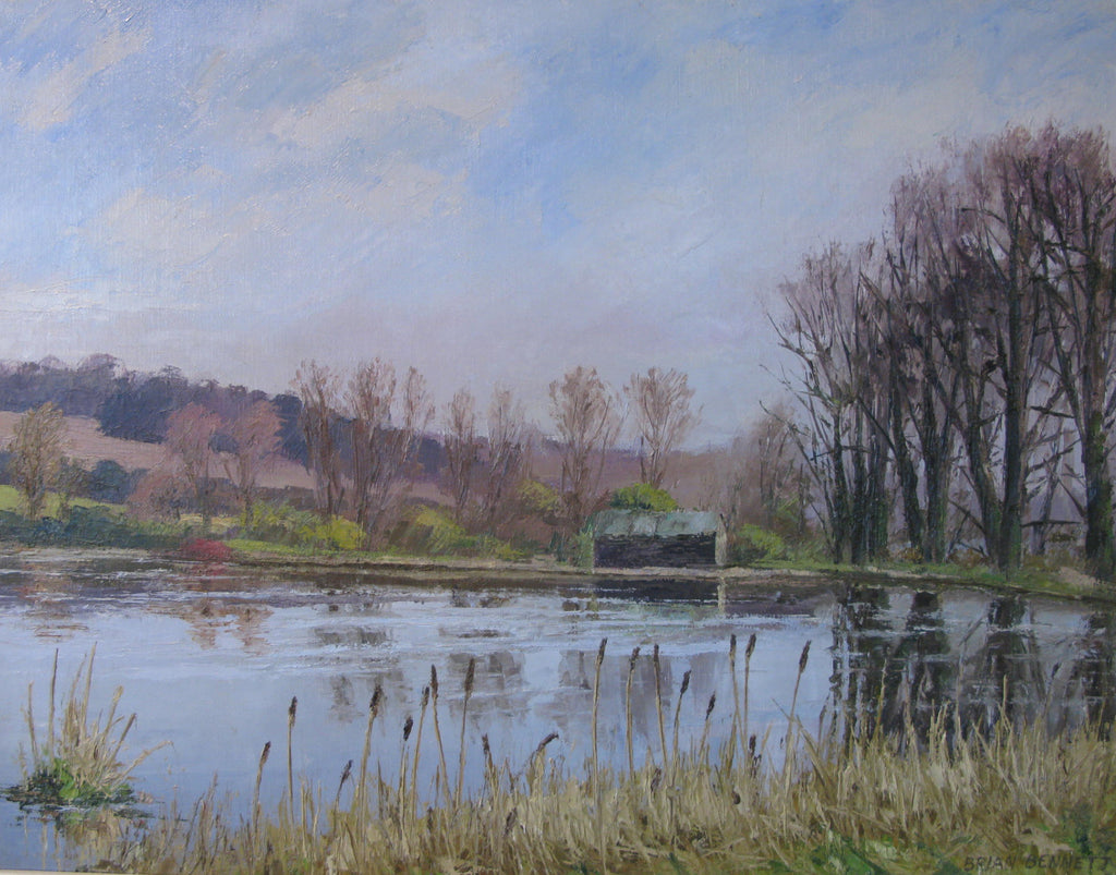 Lake at Shardeloes - Oil by Brian Bennett PPROI