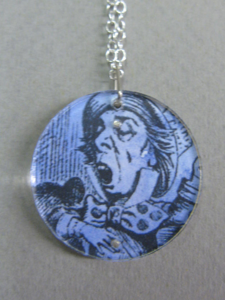The Mad Hatter Design Reversible Necklace