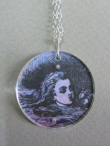 Alice in Wonderland Design Reversible Necklace