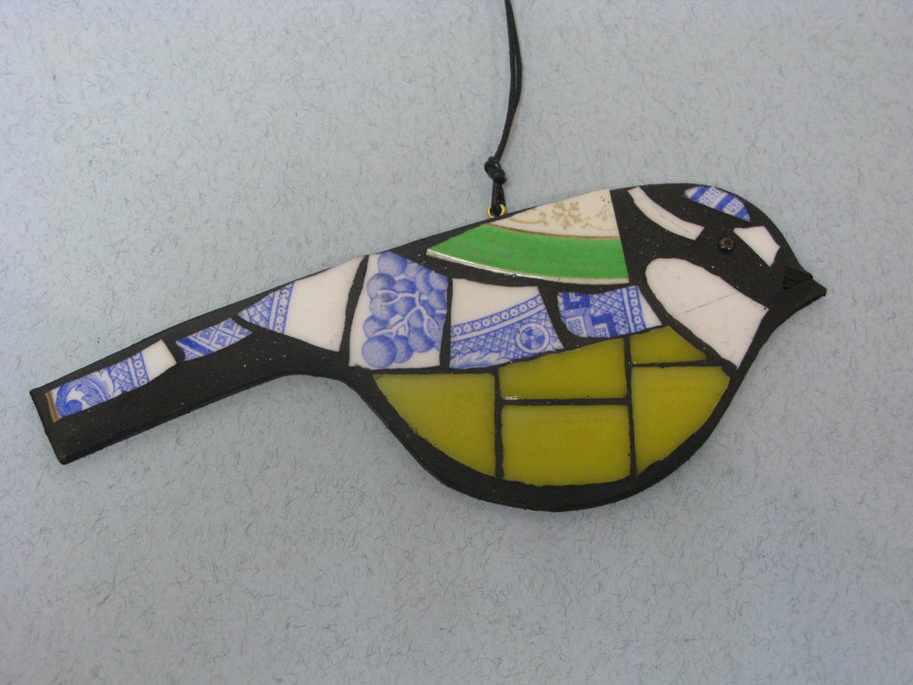 Mosaic Blue Tit by Helen Clues