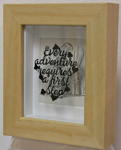 Every Adventure - Hand-Cut Miniature Paper Cut by Loz Morgan (from a design by Paper Panda).  NOW £195.