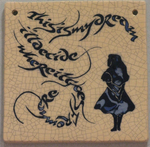 Small Square Alice in Wonderland Tile - Mel Chambers