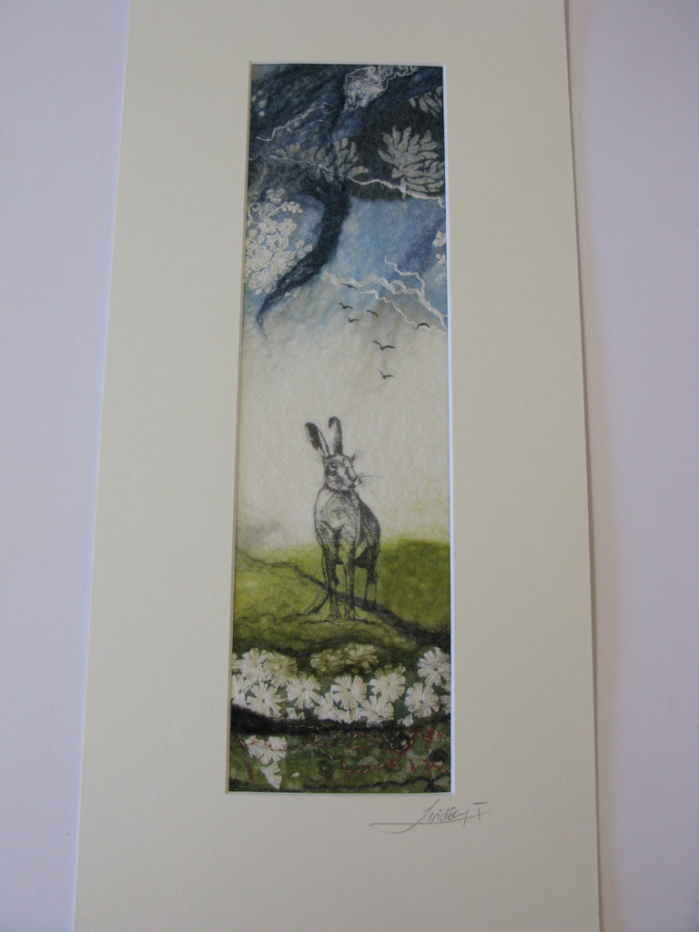 Standing Hare with Daises by Lindsey Tyson