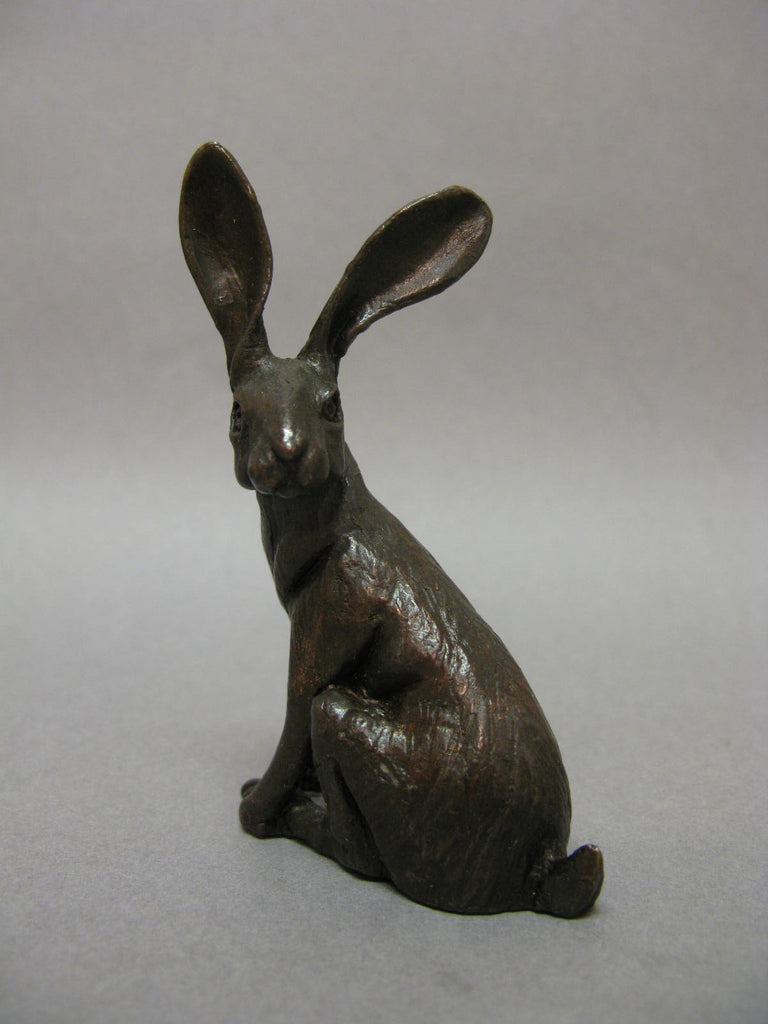 Sitting Hare Bronze Sculpture