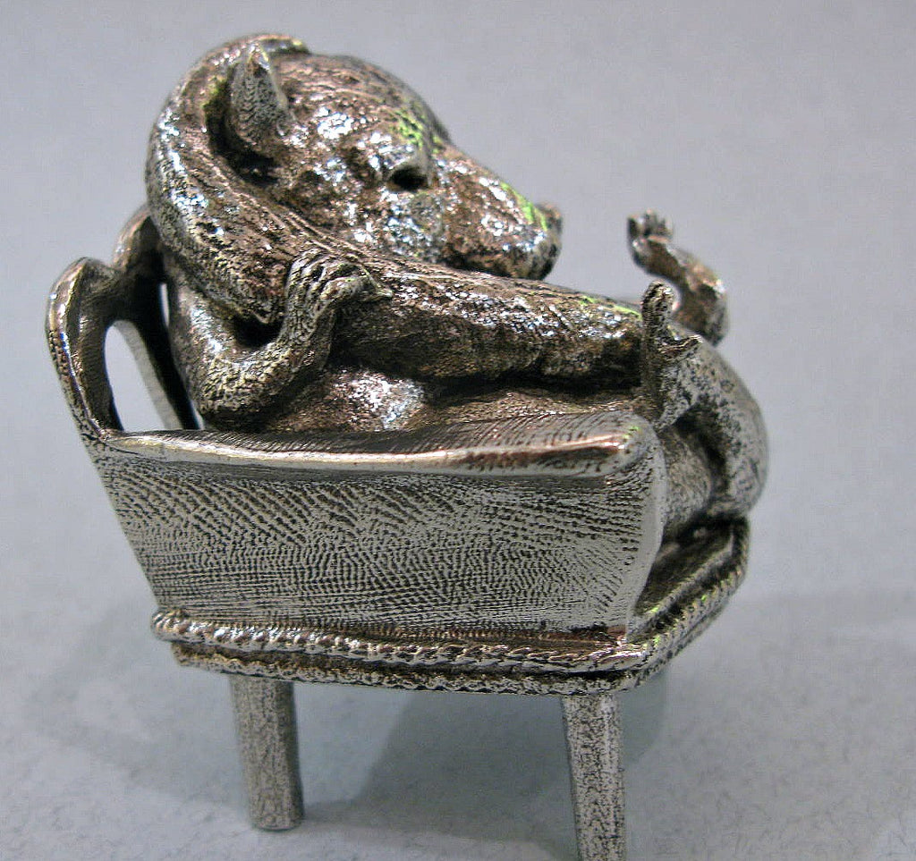 Sleeping Dormouse - Miniature Pewter Figurine by Robert James