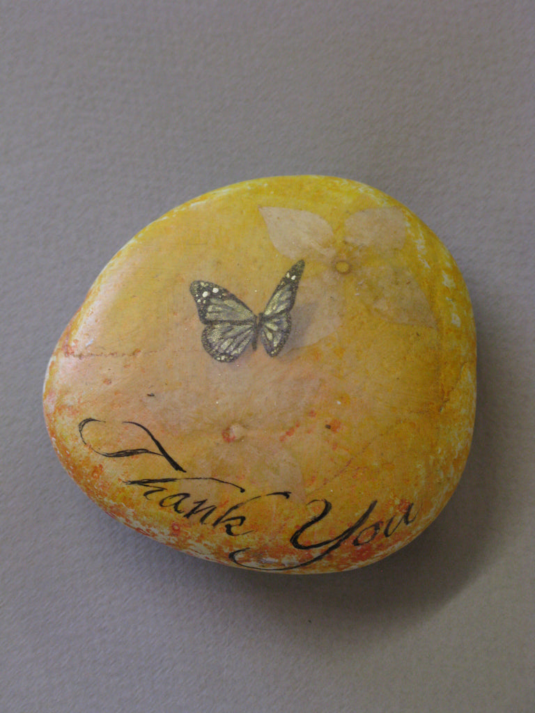Hand-Painted Stone by Alexis Penn Carver