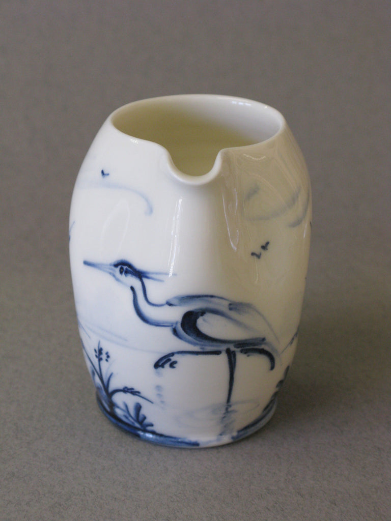Hand-Painted Porcelain Pourer by Mia Sarosi