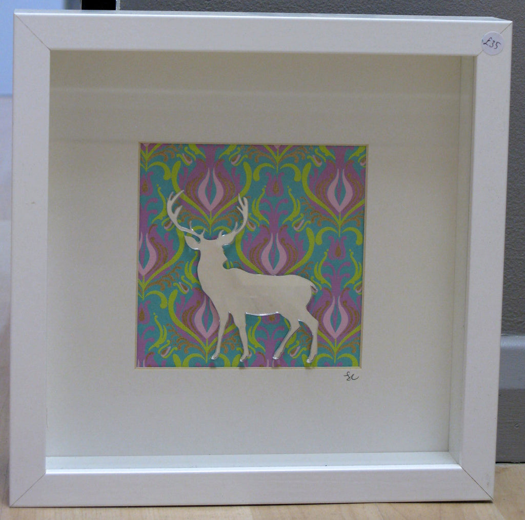 Mirrored Stag - Framed Assemblage