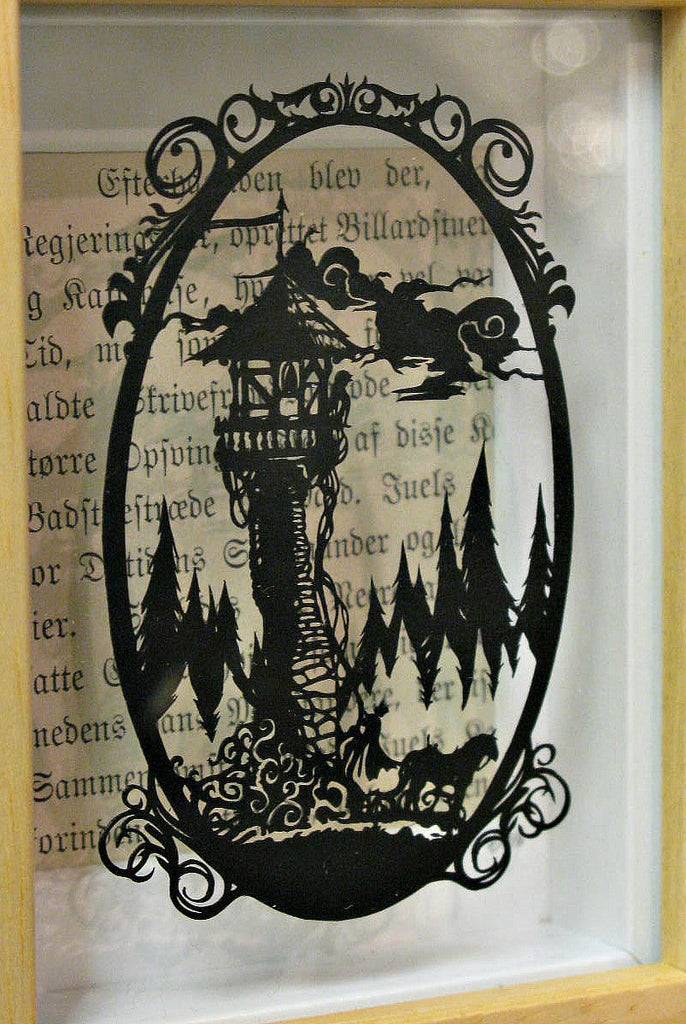 Rapunzel - Original Paper Cut by Loz Morgan (design by Paper Panda)