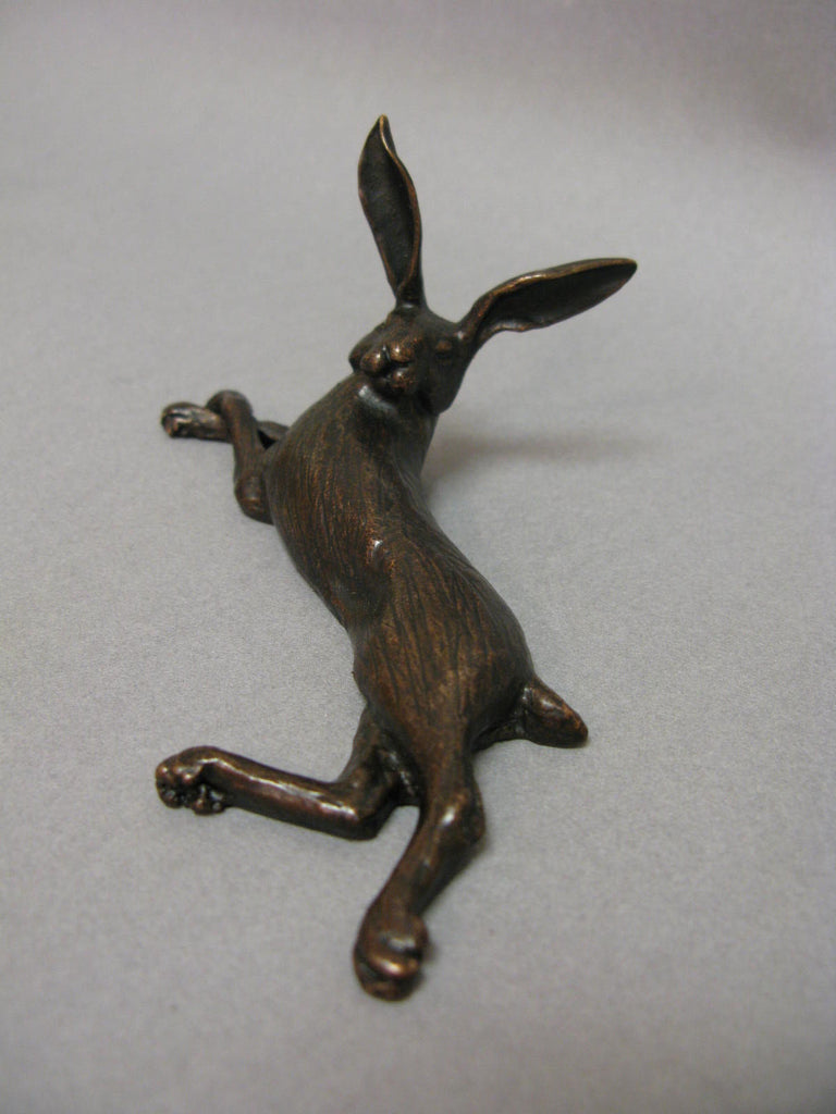 Laying Hare Bronze Sculpture