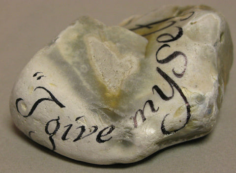 """I Give Myself Very Good Advice"" hand painted stone by Alexis Penn Carver"