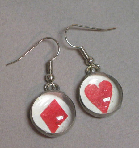 Alice Art Jewellery Earrings Diamonds & Hearts
