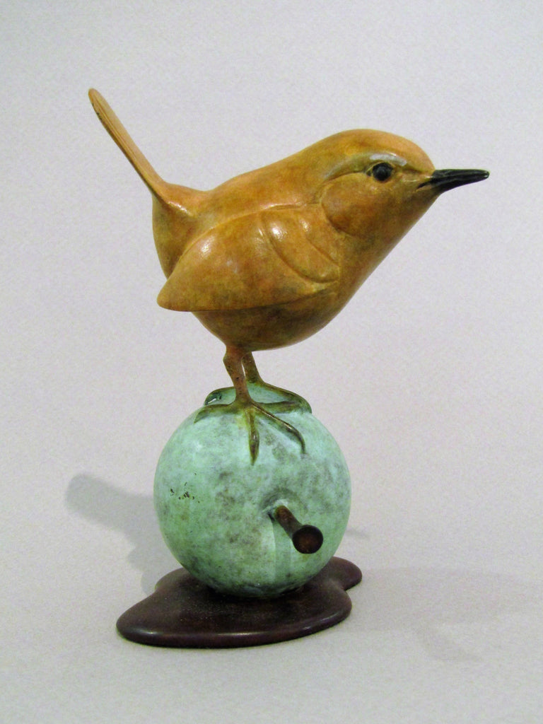 Wren on Bronze Apple