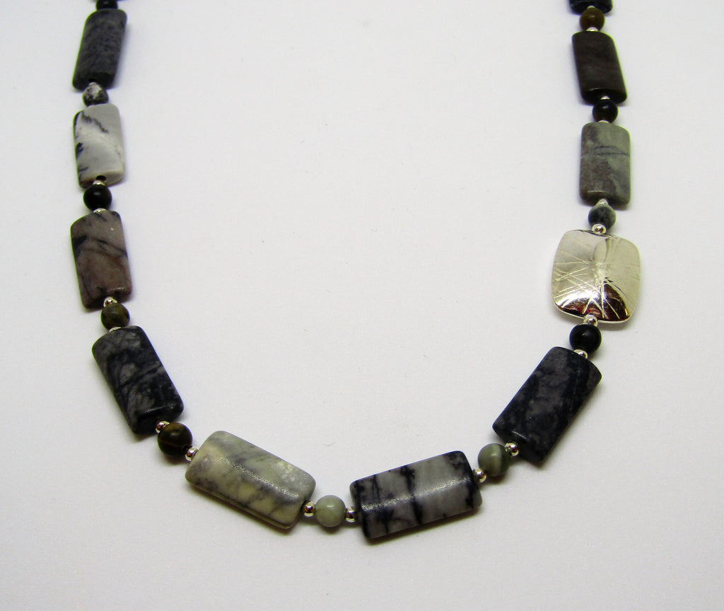 Swaged Necklace with Picasso Jasper
