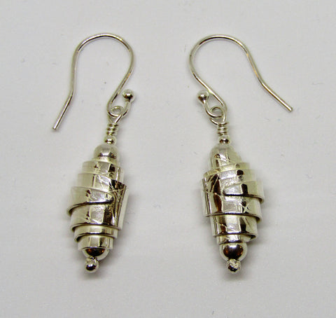 Wrapped Sterling Silver Earrings