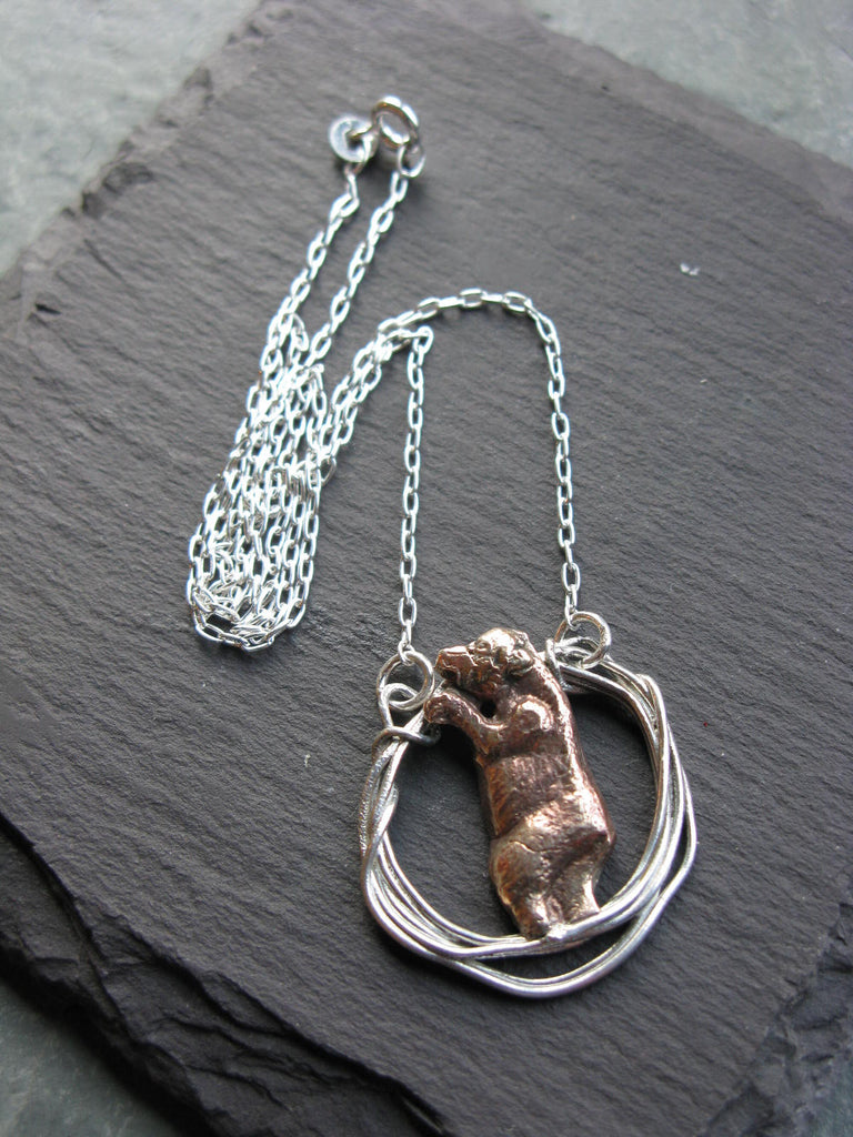 Bear in Hoop Necklace - Xuella Arnold