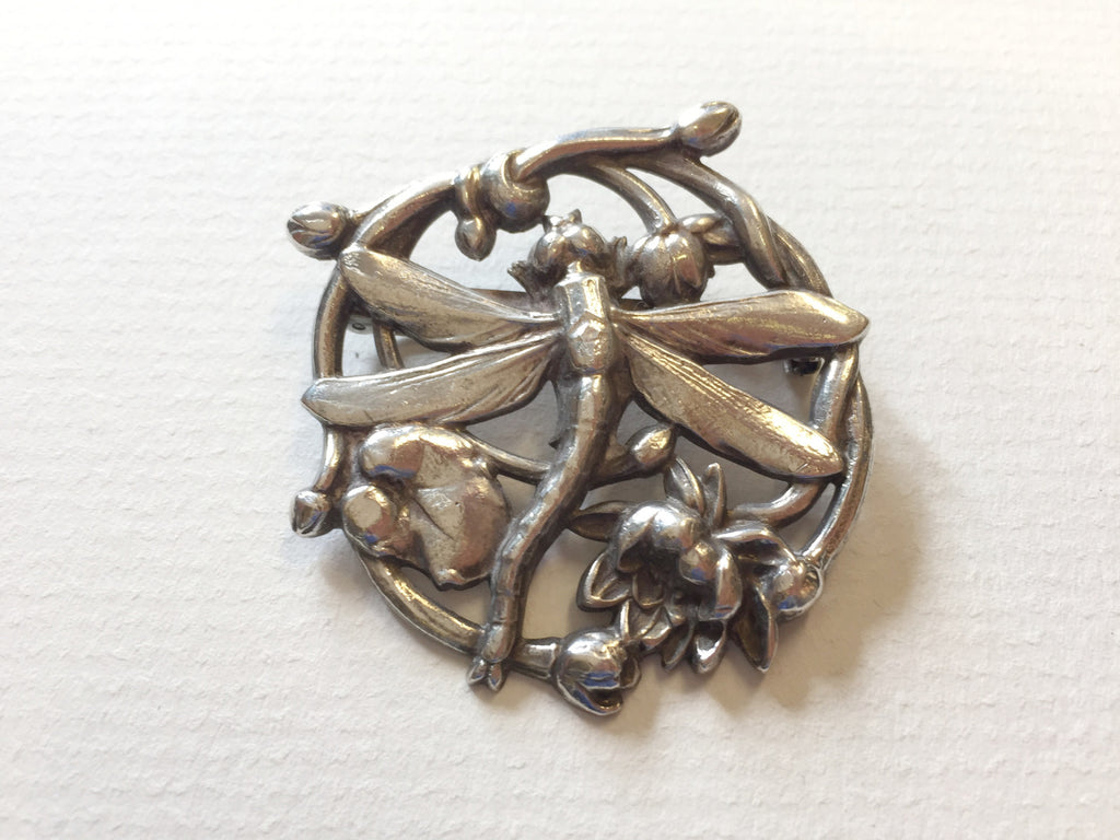 Round Dragonfly Brooch by Jess Lelong