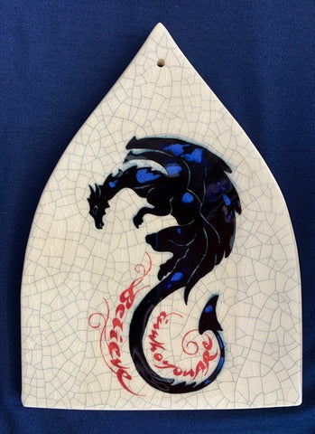 "Arch Dragon Tile - ""Believe in who you are"" by Mel Chambers"
