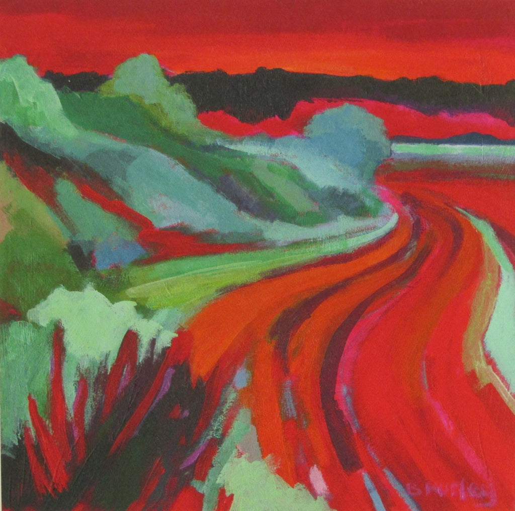 Red and Gold Furrows by Brenda Hurley
