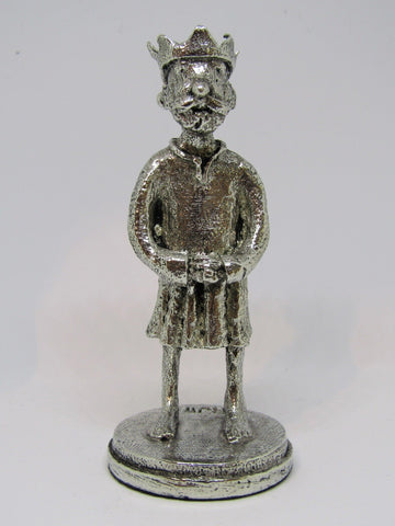 The Barefoot King -  Pewter Figurine by Robert James