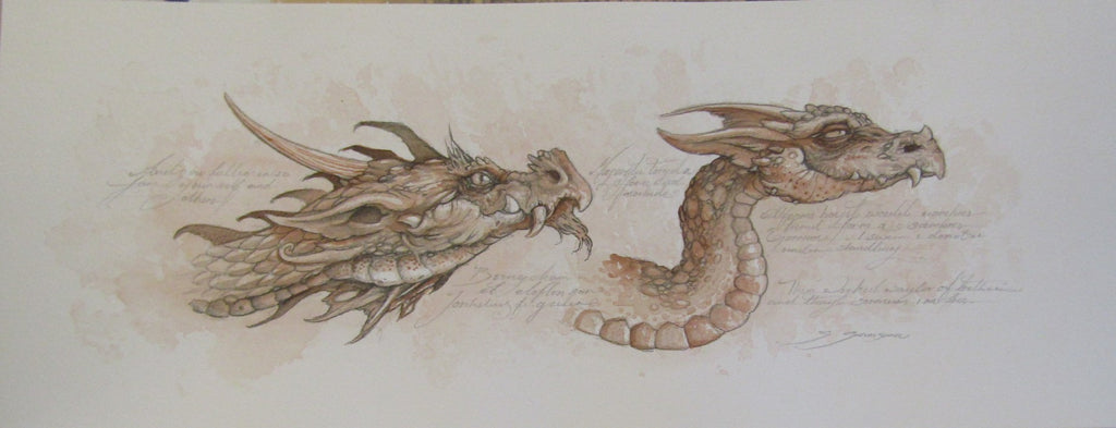 Dragon Study Double by Steve Samsara
